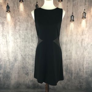 Alice + Olivia Black Sheath Sleeveless Dress Large
